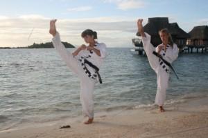 Démonstration de taekwonkido (photo tous droits réservés de Maitre R.M)